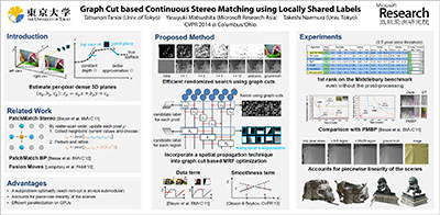 Continuous 3D Label Stereo Matching using Local Expansion
